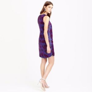 J. Crew Dresses - J Crew Shift Dress Midnight Floral Jacquard